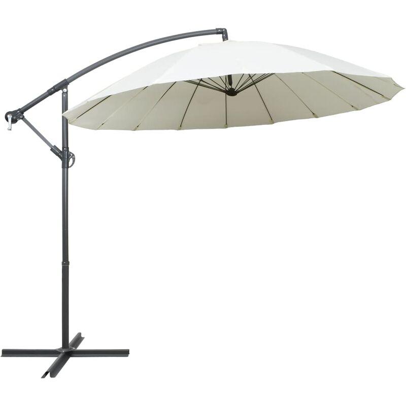 parasol suspendu blanc 3 m aluminium - Rogal