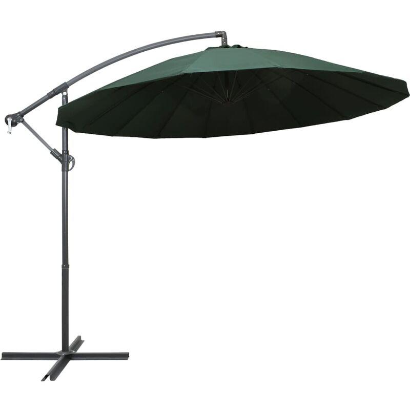 parasol suspendu vert 3 m aluminium - Rogal