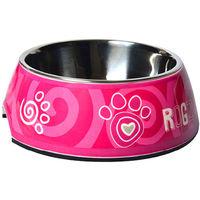 Rogz Bubble Bowl Pink Paw Large 700ml