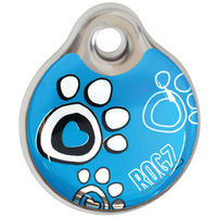 Rogz Id-Tagz Instant 34mm Turquoise Paw