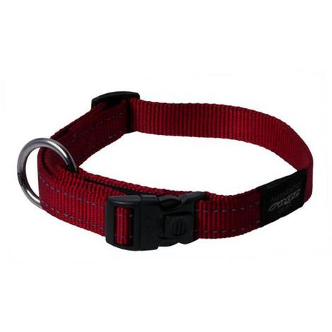 Rogz Utility Red Collar Nitelife