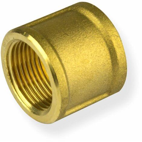 "Rohr Muffe 3/4"" Zoll DN20 Messing Rohrmuffe Gewinde-Fitting Gewindeverbinder"