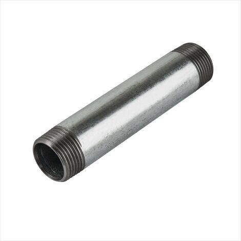 """Rohrdoppelnippel 1 1/4"""" 5/4"""" Zoll x 100 mm DN32 Rohrnippel Doppelnippel verzinkt"""