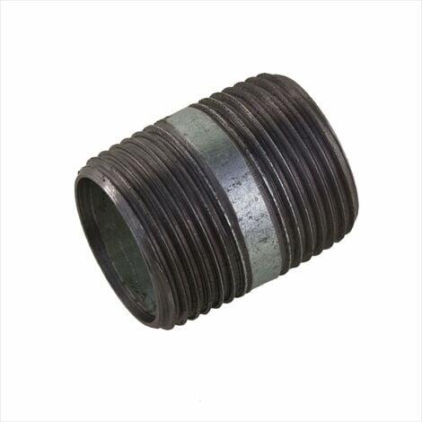 """Rohrdoppelnippel 1"""" 33,3 x 40 mm DN25 Rohrnippel Doppelnippel Nippel verzinkt"""
