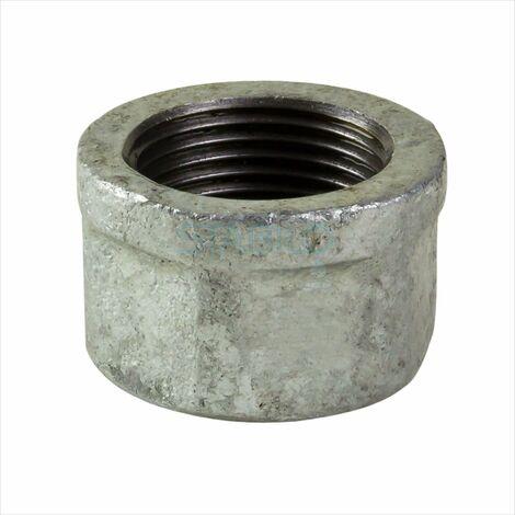 Rohrkappe 3/4 Zoll DN20 Endkappe Verschlusskappe Temperguss Fitting verzinkt