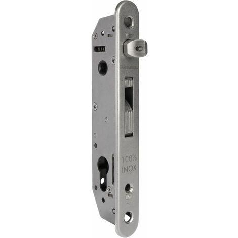 Rohrrahmenschloss Fortylock mit Hakenriegel, PZ 92,DM 20 mm,Stulp rund,Edelstahl
