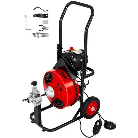 Rohrreinigungsmaschine 250 W Rohrreiniger Spiral Bohrer 400U//min Spirale 16 mm