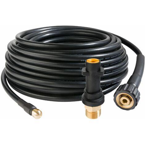 Rohrreinigungsschlauch 15 m für Hochdruckreiniger 160 bar - Rohrreiniger Abflussreiniger Kanalratte