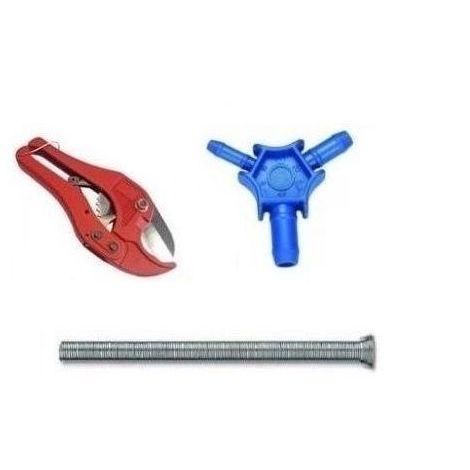 Rohrschneider + Aussenbiegefeder + Kalibrierer 16/20/25mm für 16/2mm Rohr PEX