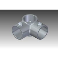 """Rohrverbinder Eckverbinder 1"""" (33,7 mm), 90° - Durchgang AVERDE"""