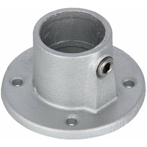 """Rohrverbinder Fußplatte rund 1 1/4"""" (42,4 mm) AVERDE"""