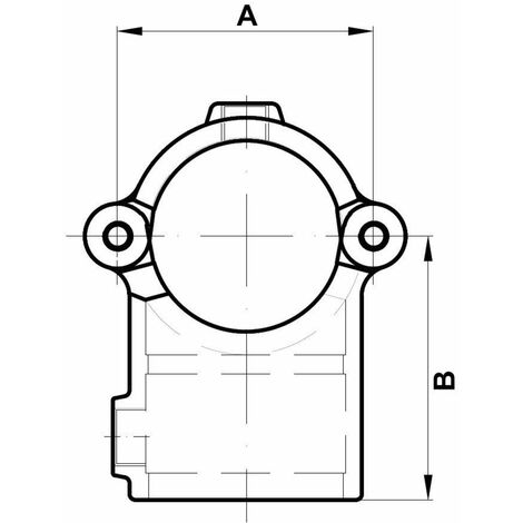 """Rohrverbinder T-Verbinder klappbar, 1 1/4"""" (Ø42,4 mm) AVERDE"""