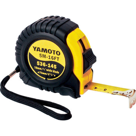 Yamoto Bandmaß Rollmaßband Gummi 3m x 16mm lackiert YMT5361440K