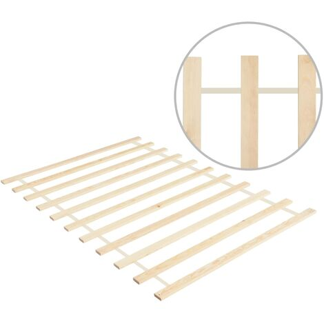 Roll-up Bed Base with 11 Slats 100x200 cm Solid Pinewood