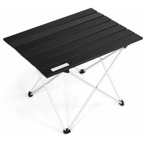 Roll up Portable Camping Table Aluminium Folding Picnic Outdoor BBQ Party bag