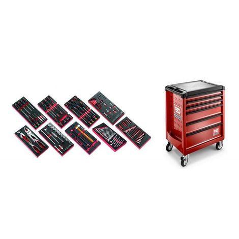 ROLL6M3.CM138 Sélection de 138 outils pour la maintenance automobile plus servante 6 tiroirs ROLL 6 tiroirs