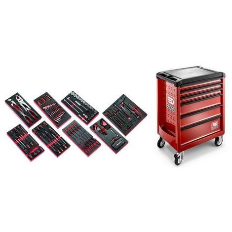 ROLL6M3.CMAG Sélection de 135 outils pour la maintenance agricole plus servante 6 tiroirs ROLL 6 tiroirs
