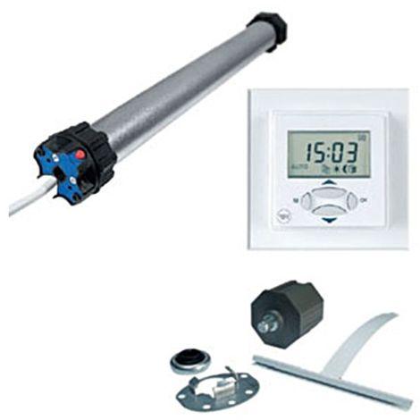 Rolladen Rohrmotor Set 9Nm mit Zubehör/Uhr elektronisch