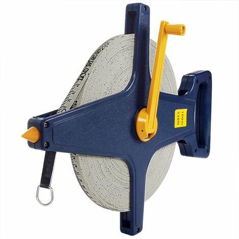 Rollbandmaß 100m Glasfaserverstärktes Material Öse Maßband Bandmaß Kapselmaßband Messband Maß Messen Rollmeter Rollmaßband