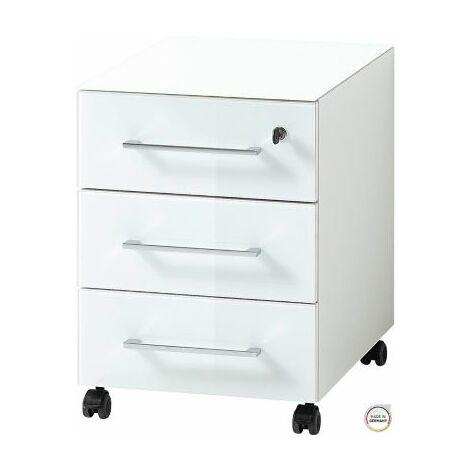 """Rollcontainer""""Leeds"""" HxBxT 550 x 400 x 500 mm, weiß Bürocontainer Rollwagen"""