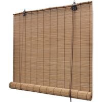 Roller Blind Bamboo 100x220 cm Brown