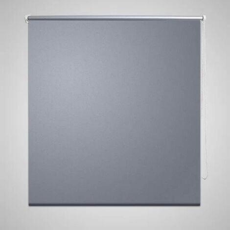 Roller Blind Blackout 100 x 175 cm Grey - Grey