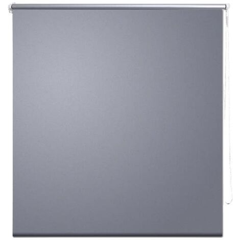 Roller blind blackout 100 x 230 cm grey