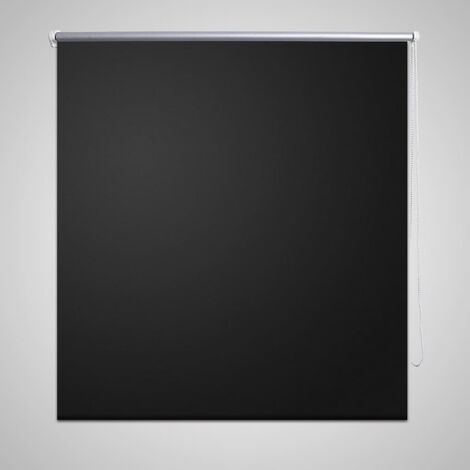 Roller Blind Blackout 120 x 175 cm Black - Black