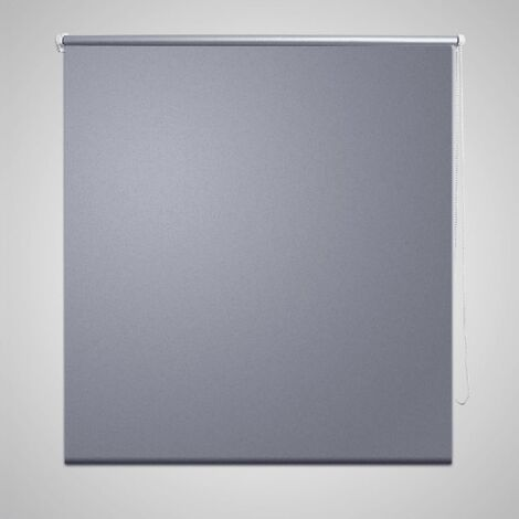 Roller blind blackout 120 x 175 cm grey