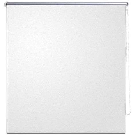 Roller blind blackout 120 x 175 cm white