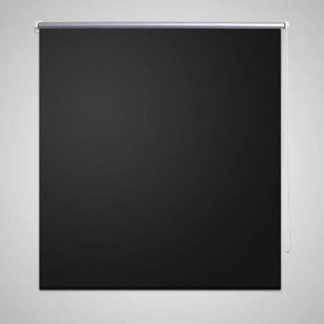 Roller Blind Blackout 120 x 230 cm Black