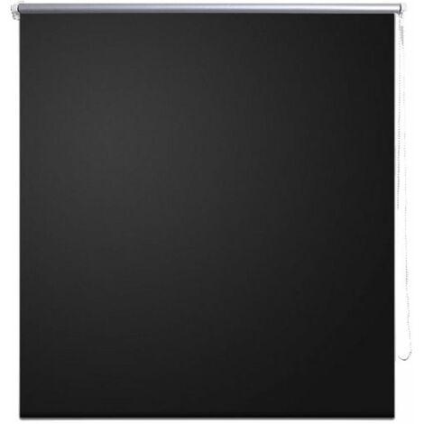 Roller Blind Blackout 120 x 230 cm Black QAH08090
