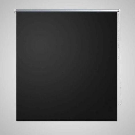 Roller Blind Blackout 120 x 230 cm Black VD08090
