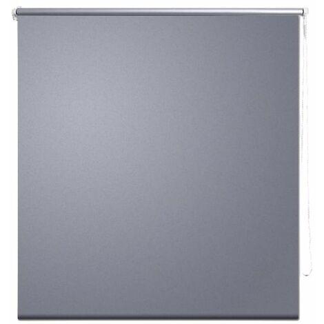 Roller Blind Blackout 140 x 175 cm Grey QAH08058