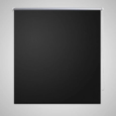 Roller Blind Blackout 140 x 230 cm Black
