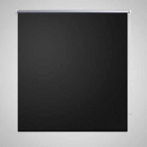 Roller Blind Blackout 140 x 230 cm Black - Black