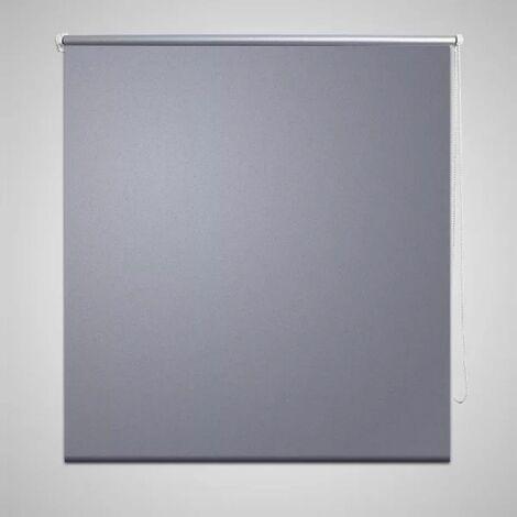Roller Blind Blackout 140 x 230 cm Grey