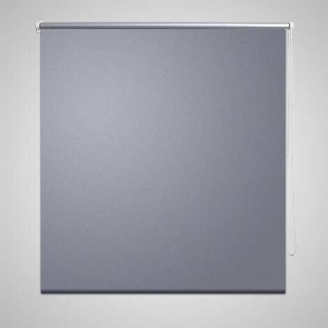 Roller Blind Blackout 140 x 230 cm Grey - Grey