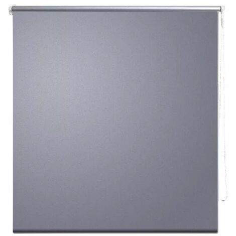 Roller Blind Blackout 160 x 175 cm Grey QAH08065