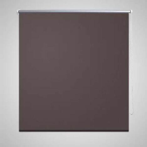 Roller Blind Blackout 40 x 100 cm Coffee