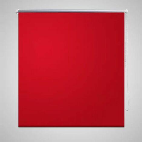 Roller Blind Blackout 40 x 100 cm Red