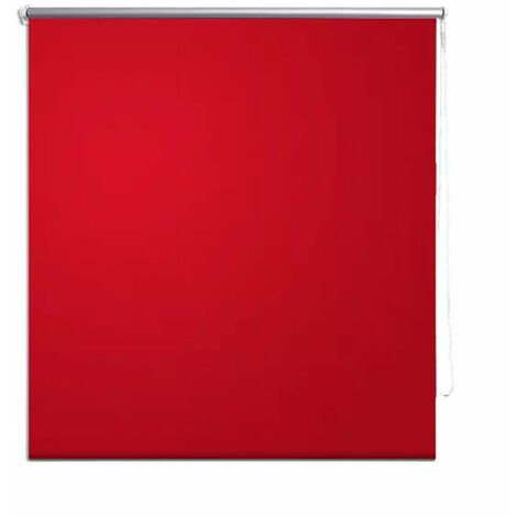 Roller Blind Blackout 40 x 100 cm Red QAH08374