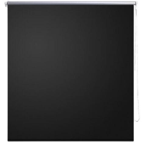 Roller Blind Blackout 60 x 120 cm Black