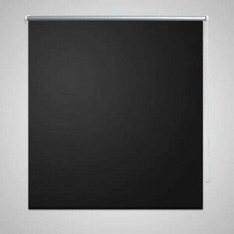 Roller Blind Blackout 80 x 175 cm Black VD08037