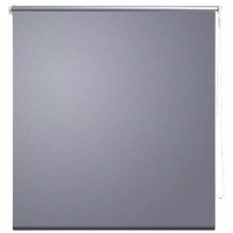 Roller Blind Blackout 80 x 175 cm Grey QAH08036