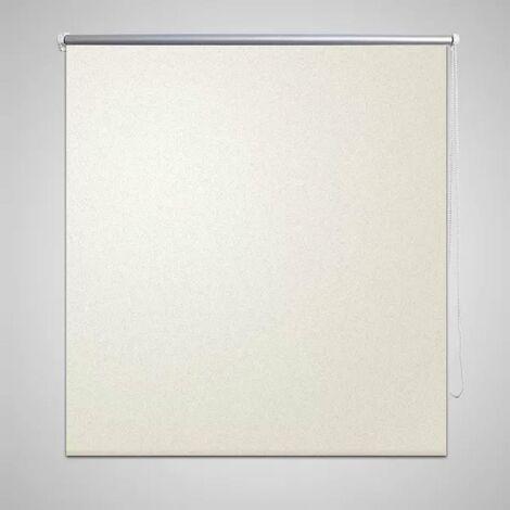 Roller blind blackout 80 x 175 cm off white