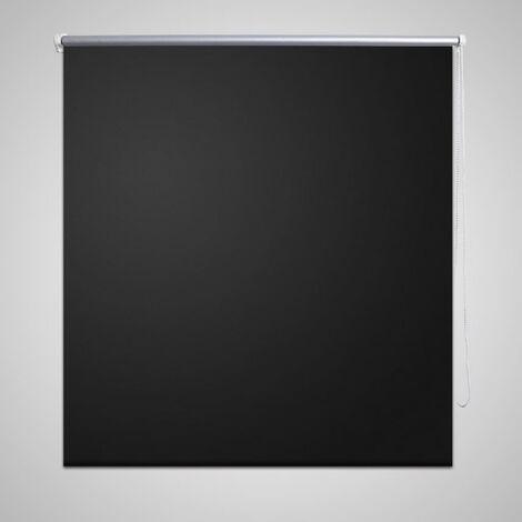 Roller Blind Blackout 80 x 230 cm Black - Black