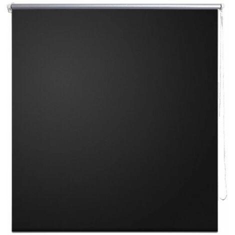 Roller Blind Blackout 80 x 230 cm Black QAH08074