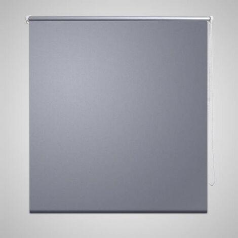 Roller Blind Blackout 80 x 230 cm Grey - Grey