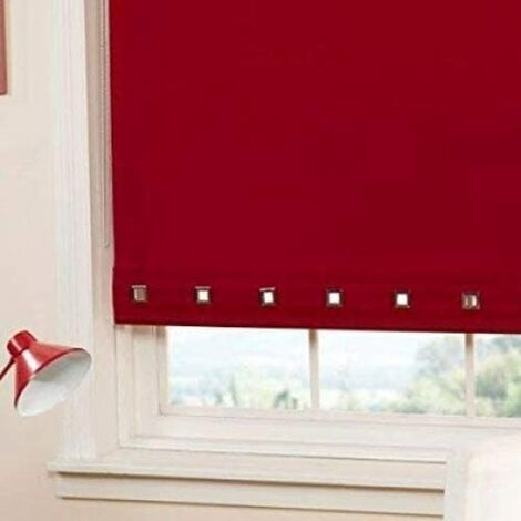 Roller Blind Sq. Eyelet 60 x 165cm Red
